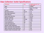 data collection boiler specifications