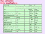 data collection boiler specifications19