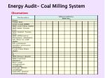 energy audit coal milling system50