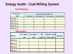 energy audit coal milling system51