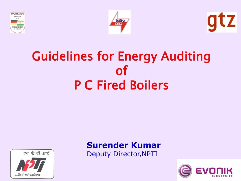 guidelines for energy auditing of p c fired boilers l.