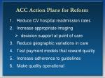 acc action plans for reform