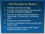 acc principles for reform