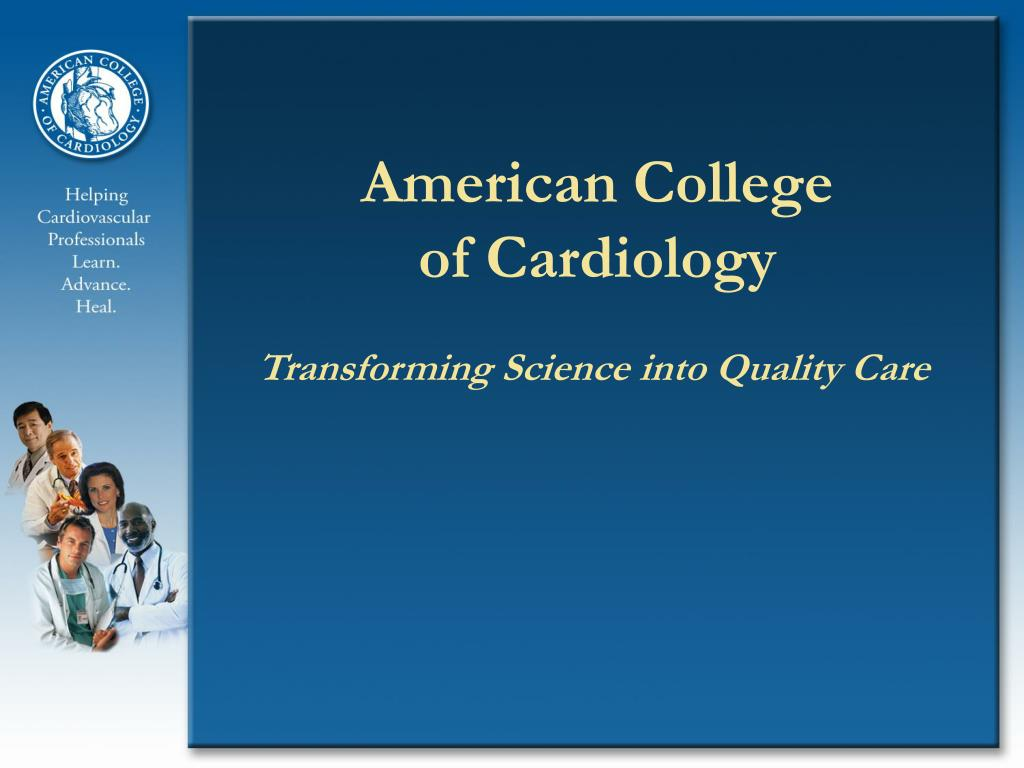 american college of cardiology l.