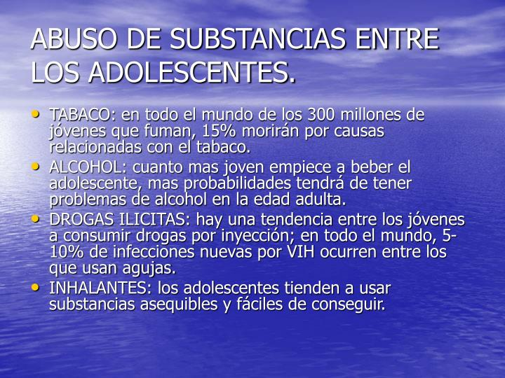Abuso de substancias entre los adolescentes3
