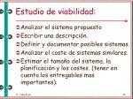 estudio de viabilidad