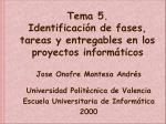 tema 5 identificaci n de fases tareas y entregables en los proyectos inform ticos