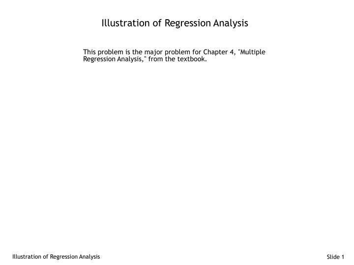 illustration of regression analysis n.