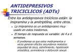 antidepresivos triciclicos adts