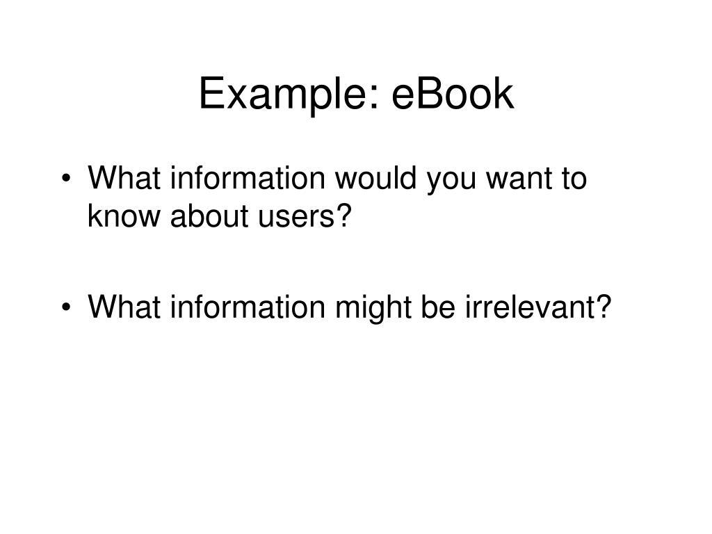 Example: eBook