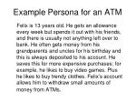 example persona for an atm