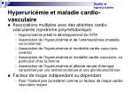 hyperuric mie et maladie cardio vasculaire