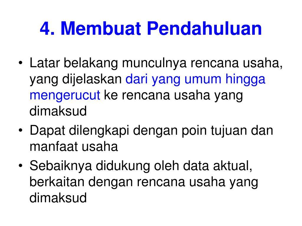 4. Membuat Pendahuluan