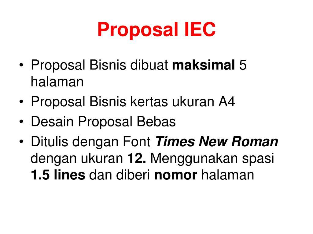 Proposal IEC