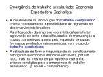 emerg ncia do trabalho assalariado economia exportadora capitalista