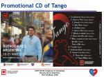 promotional cd of tango