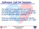 software call for sessions