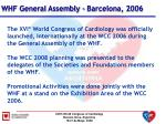 whf general assembly barcelona 2006