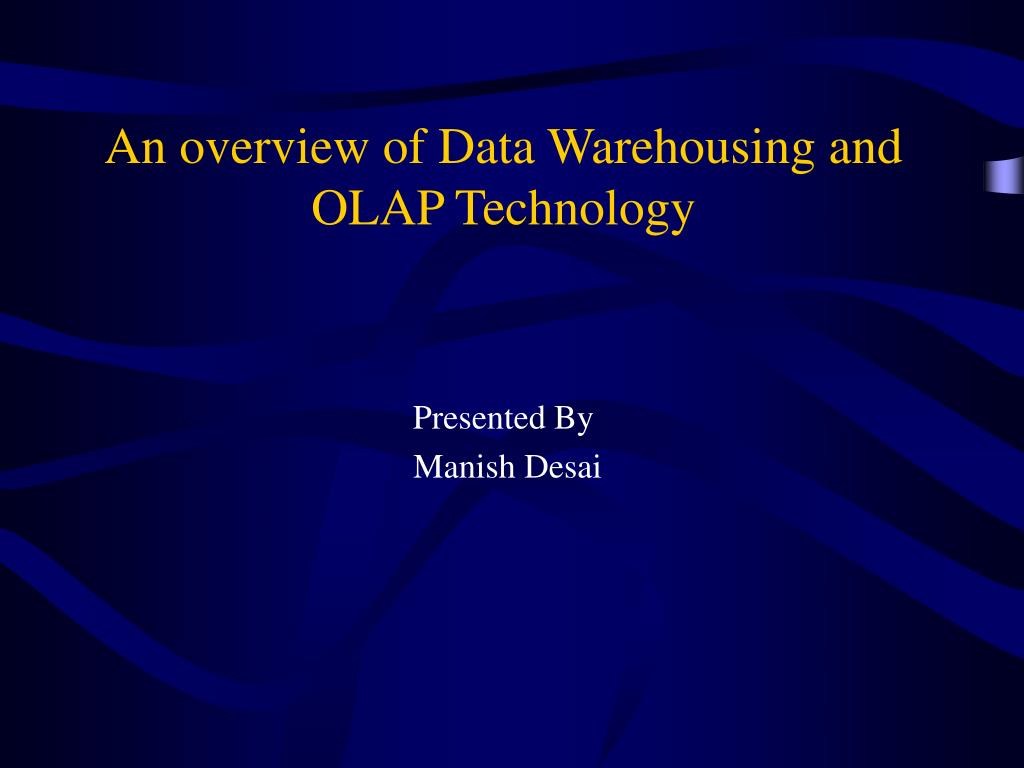 an overview of data warehousing and olap technology l.