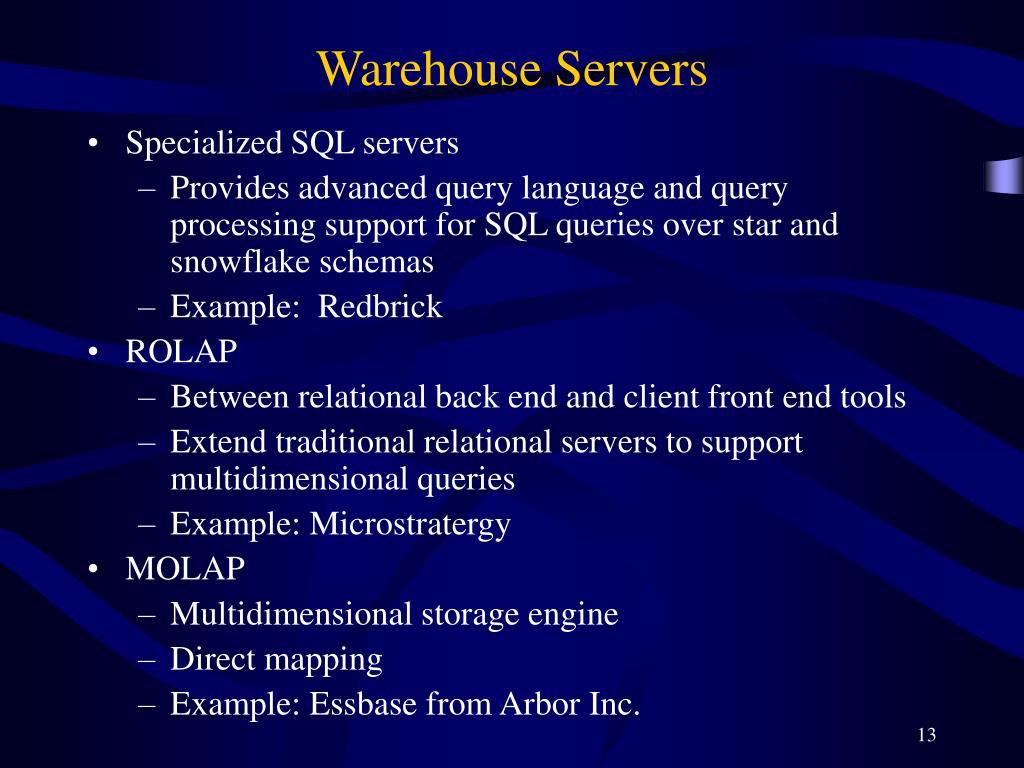 Warehouse Servers
