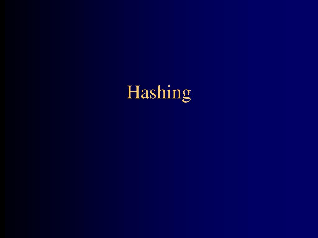 hashing l.