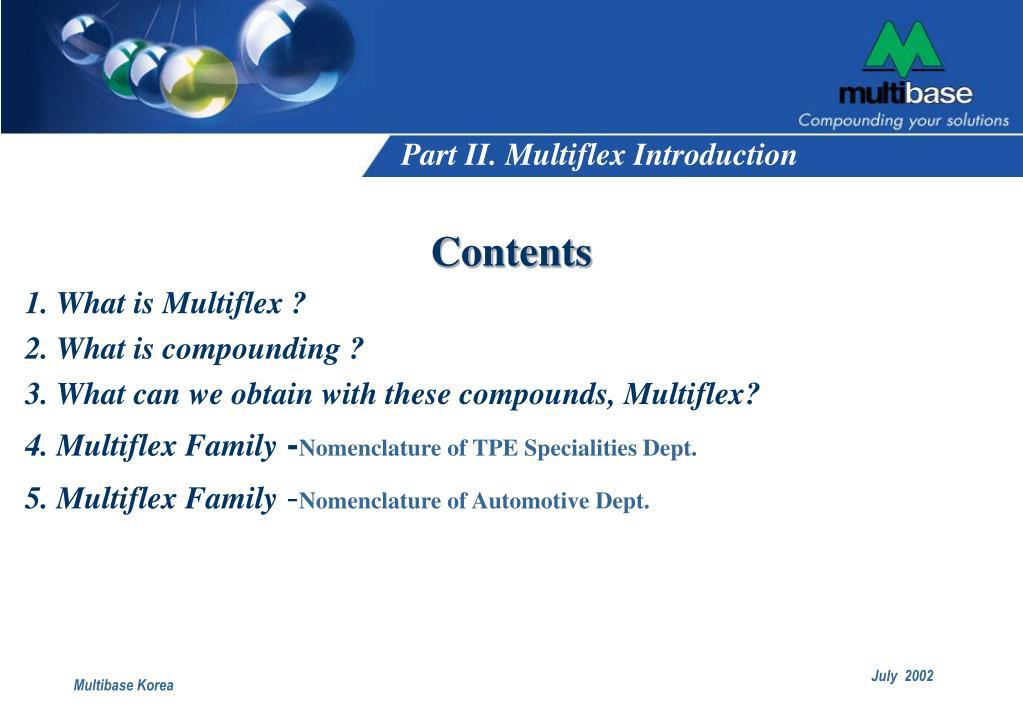 Part II. Multiflex Introduction