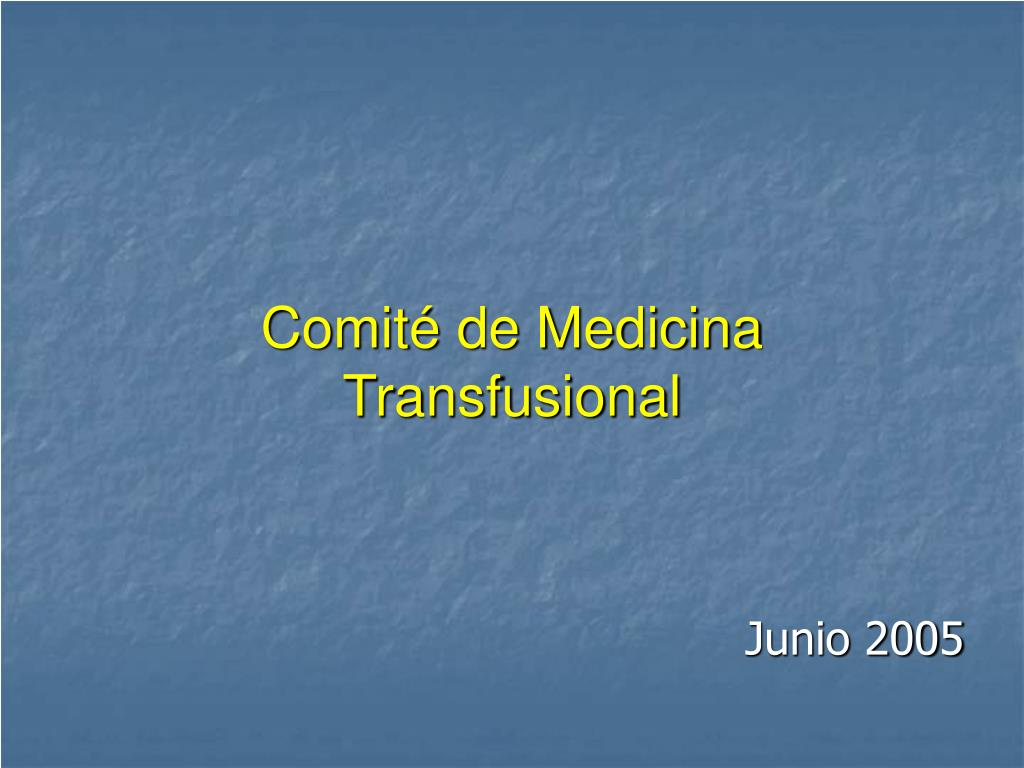 comit de medicina transfusional l.