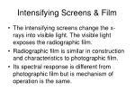 intensifying screens film