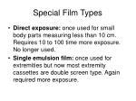 special film types