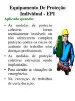equipamento de prote o individual epi11