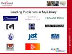 leading publishers in myilibrary42