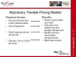 myilibrary flexible pricing models39