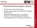proquest myilibrary medical interface