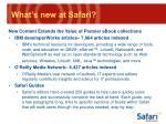 what s new at safari