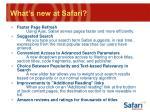 what s new at safari21