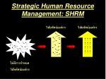strategic human resource management shrm6