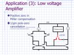 application 3 low voltage amplifier
