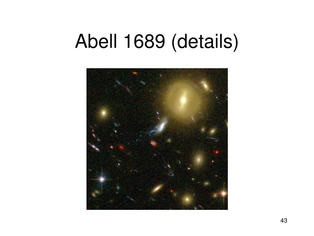 Abell 1689 (details)