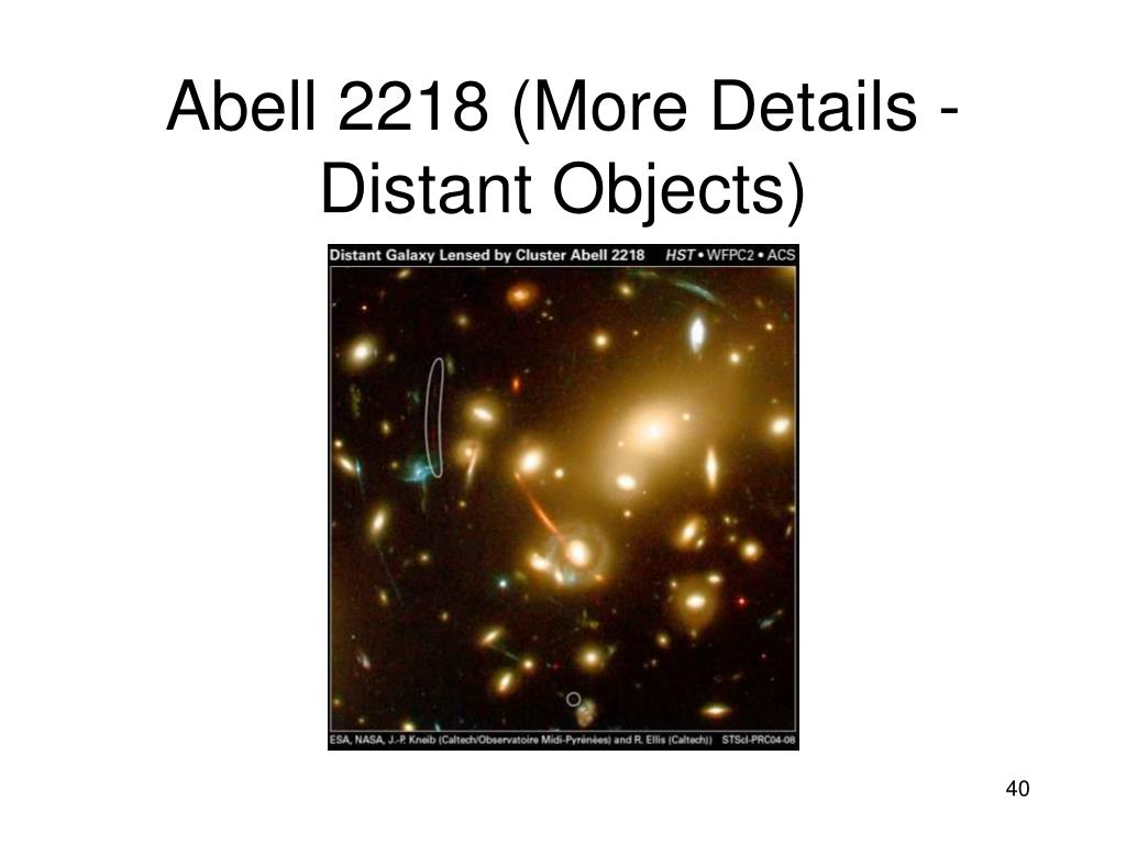 Abell 2218 (More Details - Distant Objects)