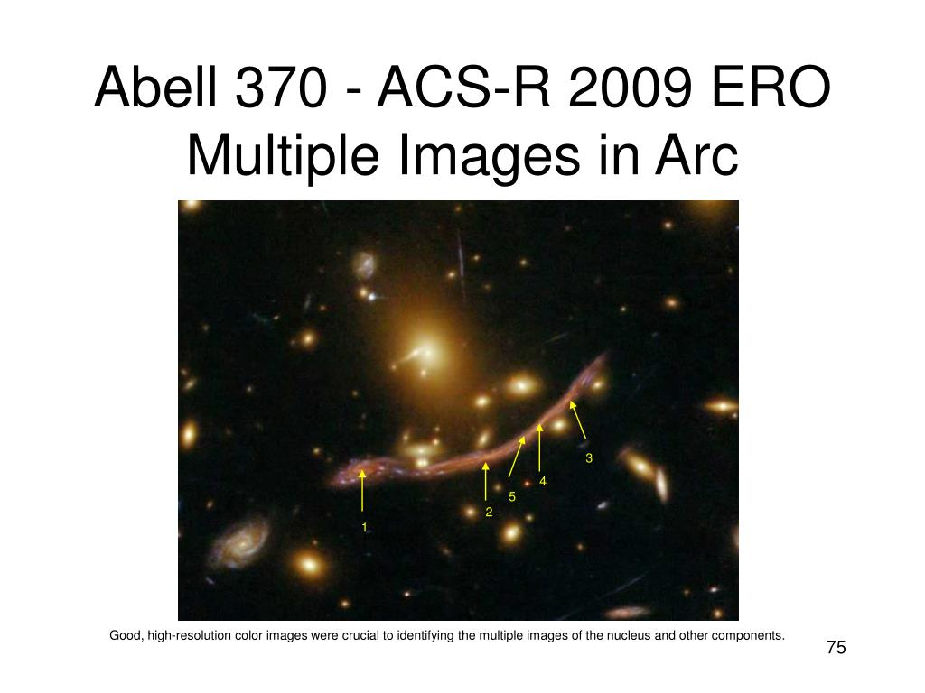 Abell 370 - ACS-R 2009 ERO Multiple Images in Arc