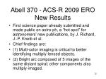 abell 370 acs r 2009 ero new results