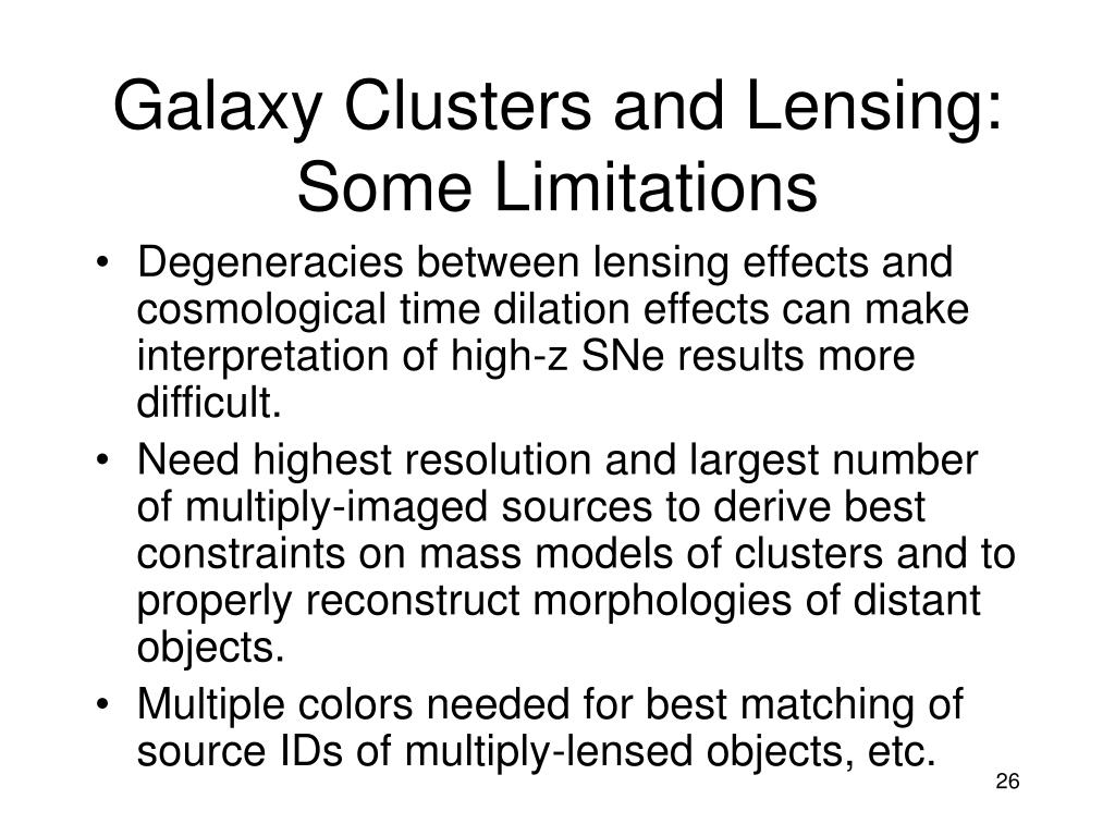 Galaxy Clusters and Lensing: Some Limitations