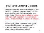 hst and lensing clusters