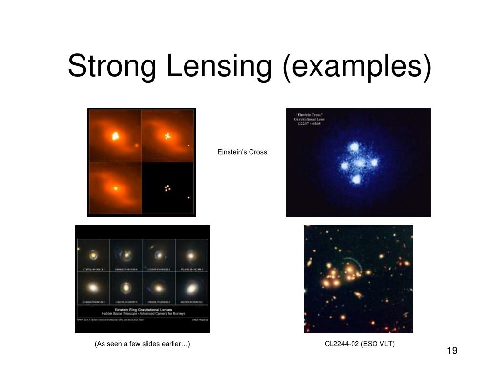 Strong Lensing (examples)