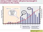 linking of omc margins with price has brought in investment in the country