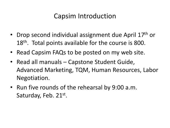 capsim introduction n.