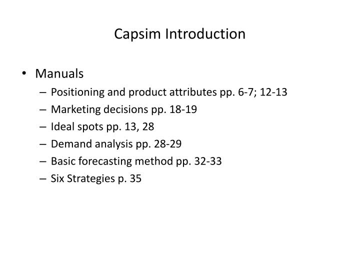 capsim situational Winning capstone simulation: three most important factors for success in capsim capstone simulation - duration: 33:36 capsim mullens 44,756 views.