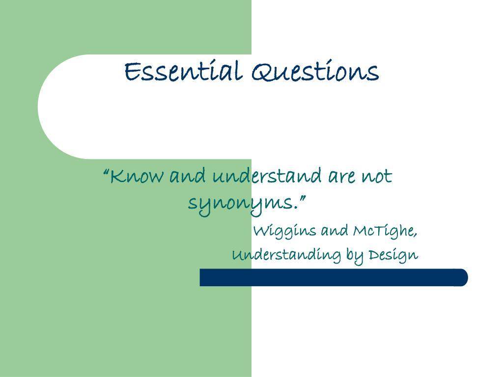 essential questions l.