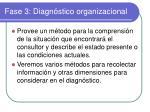 fase 3 diagn stico organizacional