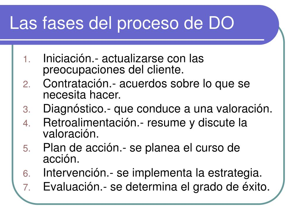 las fases del proceso de do l.